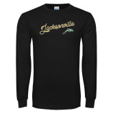 Black Long Sleeve T Shirt-Script Jacksonville