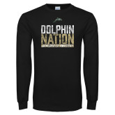 Black Long Sleeve T Shirt-Dolphin Nation