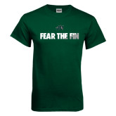 Dark Green T Shirt-Fear the Fin