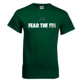 Dark Green T Shirt-Fear the Fin