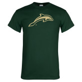 Dark Green T Shirt-Dolphin