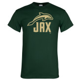 Dark Green T Shirt-Dolphin JAX