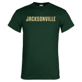 Dark Green T Shirt-Jacksonville Wordmark