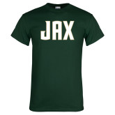Dark Green T Shirt-JAX Wordmark