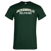 Dark Green T Shirt-Arched