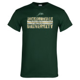 Dark Green T Shirt-Block Distressed
