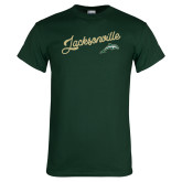 Dark Green T Shirt-Script Jacksonville