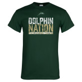Dark Green T Shirt-Dolphin Nation