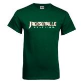Dark Green T Shirt-Jacksonville Dolphins Word Mark