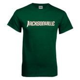 Dark Green T Shirt-Jacksonville Word Mark