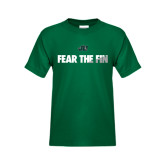 Youth Dark Green T Shirt-Fear the Fin