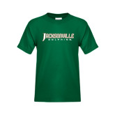 Youth Dark Green T Shirt-Jacksonville Dolphins Word Mark