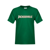 Youth Dark Green T Shirt-Jacksonville Word Mark