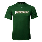 Under Armour Dark Green Tech Tee-Jacksonville Dolphins Word Mark