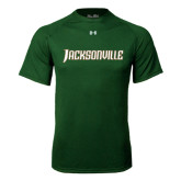 Under Armour Dark Green Tech Tee-Jacksonville Word Mark