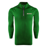 Under Armour Dark Green Tech 1/4 Zip Performance Shirt-Jacksonville Dolphins Word Mark