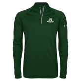 Under Armour Dark Green Tech 1/4 Zip Performance Shirt-Primary Logo