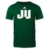 Adidas Dark Green Logo T Shirt-JU