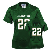 Ladies Dark Green Replica Football Jersey-#22