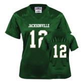 Ladies Dark Green Replica Football Jersey-#12