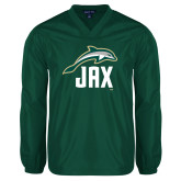 V Neck Dark Green Raglan Windshirt-Dolphin JAX