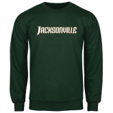 Dark Green Fleece Crew-Jacksonville Word Mark