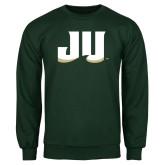 Dark Green Fleece Crew-JU