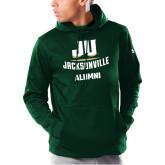 Under Armour Dark Green Armour Fleece Hoodie-Alumni