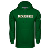 Under Armour Dark Green Performance Sweats Team Hood-Jacksonville Word Mark