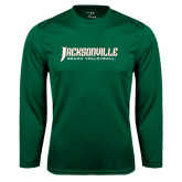 Syntrel Performance Dark Green Longsleeve Shirt-Beach Volleyball