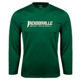Performance Dark Green Longsleeve Shirt-Beach Volleyball