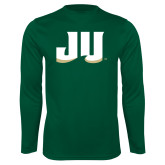 Performance Dark Green Longsleeve Shirt-JU
