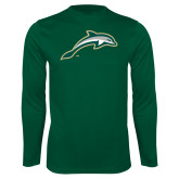 Performance Dark Green Longsleeve Shirt-Dolphin