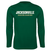Performance Dark Green Longsleeve Shirt-Cheerleading
