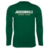 Performance Dark Green Longsleeve Shirt-Dance Team