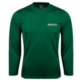 Syntrel Performance Dark Green Longsleeve Shirt-Jacksonville Dolphins Word Mark