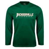 Syntrel Performance Dark Green Longsleeve Shirt-Lacrosse