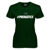 Ladies Dark Green T Shirt-#Phinatics