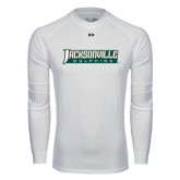 Under Armour White Long Sleeve Tech Tee-Jacksonville Dolphins Word Mark