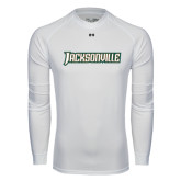 Under Armour White Long Sleeve Tech Tee-Jacksonville Word Mark