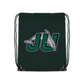 Dark Green Drawstring Backpack-Official Logo