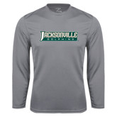 Syntrel Performance Steel Longsleeve Shirt-Jacksonville Dolphins Word Mark