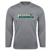 Performance Steel Longsleeve Shirt-Jacksonville Dolphins Word Mark