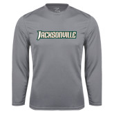 Syntrel Performance Steel Longsleeve Shirt-Jacksonville Word Mark