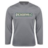 Performance Steel Longsleeve Shirt-Jacksonville Word Mark