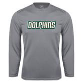 Performance Steel Longsleeve Shirt-Dolphins Word Mark