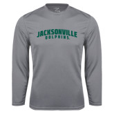 Syntrel Performance Steel Longsleeve Shirt-Jacksonville Dolphins Arched