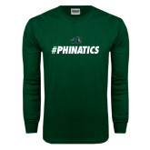 Dark Green Long Sleeve T Shirt-#Phinatics