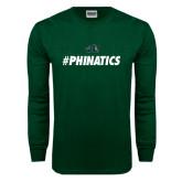 Dark Green Long Sleeve T Shirt-#Phinatics