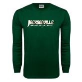 Dark Green Long Sleeve T Shirt-Beach Volleyball